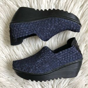 Bernie Mev Woven Textile Gem Wedge Shoes